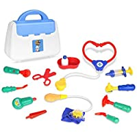 Medical Kitsごっこ遊び、zooawa医者と看護婦セットRole Play Toy with Handy Carrying Case forボーイズ、ガールズ、キッズ、幼児over 3 years old、カラフルな
