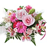 花由 ボリュームUPアレンジ・ラウンド-ピンクメイン マケプレプライム便 季節のおまかせ アレンジメントフラワー
