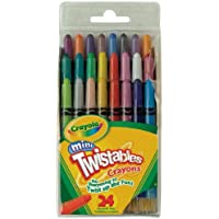 Crayola Mini Twistableクレヨン24 in Aボックス(パックof 3 ) 72クレヨンで合計