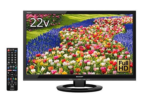 シャープ 22V型 AQUOS フルハイビジョン 液晶テレビ 外付HDD対応(裏番組録画) ブラック LC-22K40-B