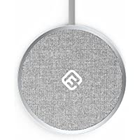 40s ワイヤレス充電パッド 充電器 DTP1 Qi認証 Wireless charger 平面置きタイプ Fastチャージ対応 iPhoneXS/XS Max/XR/ iPhone8/8Plus / Android GalaxyS9/ S9+ / S8 / S9+/ Nexus/など、Qi規格に準拠した各端末に充電対応 繊維製パッド(シルバー)