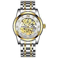QTMIAO 美しいドレスウォッチ時計 TEVISEメンズ腕時計ファッション自動機械式時計中空時計メンズ腕時計 (Color : 2)