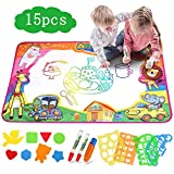 Dreampark お絵描き 水 ぬりえ お絵描きシート 子供赤ちゃん 水で絵描きペン付き カラフルシート 子供 知育玩具 描画ツール プレゼント サイズ85*55㎝