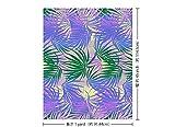 紫のハワイアンファブリック ヤシ柄 fab-2556PPGN 【ハワイ生地・ハワイアンプリント】