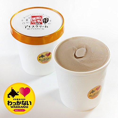 活彩 北海道 稚内牛乳 牧場 アイスクリーム ちょこれーと 大 カップ 470ml 稚内ブランド