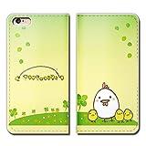 Tiara iPhone8 (4.7) iPhone8 スマホケース 手帳型 ベルトなし 小鳥 ヒヨコ 雛 親子 鶏 ニワトリ 手帳ケース カバー バンドなし マグネット式 バンドレス [EB23803_03]