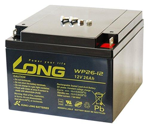LONG 12V 26Ah 高性能 シールドバッテリー WP26-12 WP26-12