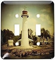3drose LSP _ 26382_ 2ヴィンテージ1901Biloxi灯台スポットライトダブル切り替えスイッチ