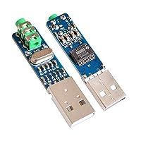 diymore 5V USB電源pcm2704Mini USBサウンドカードDACデコーダボードfor PCコンピュータ