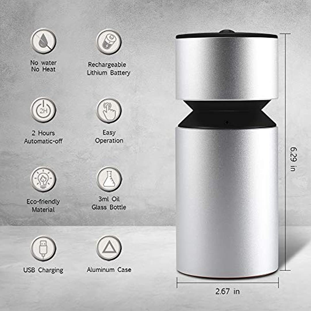 ソーシャル正当化する取り囲む噴霧オイルディフューザー、超音波アロマディフューザー、ミニ3.0 USB充電式ネブライザーアロマアロマアロマ