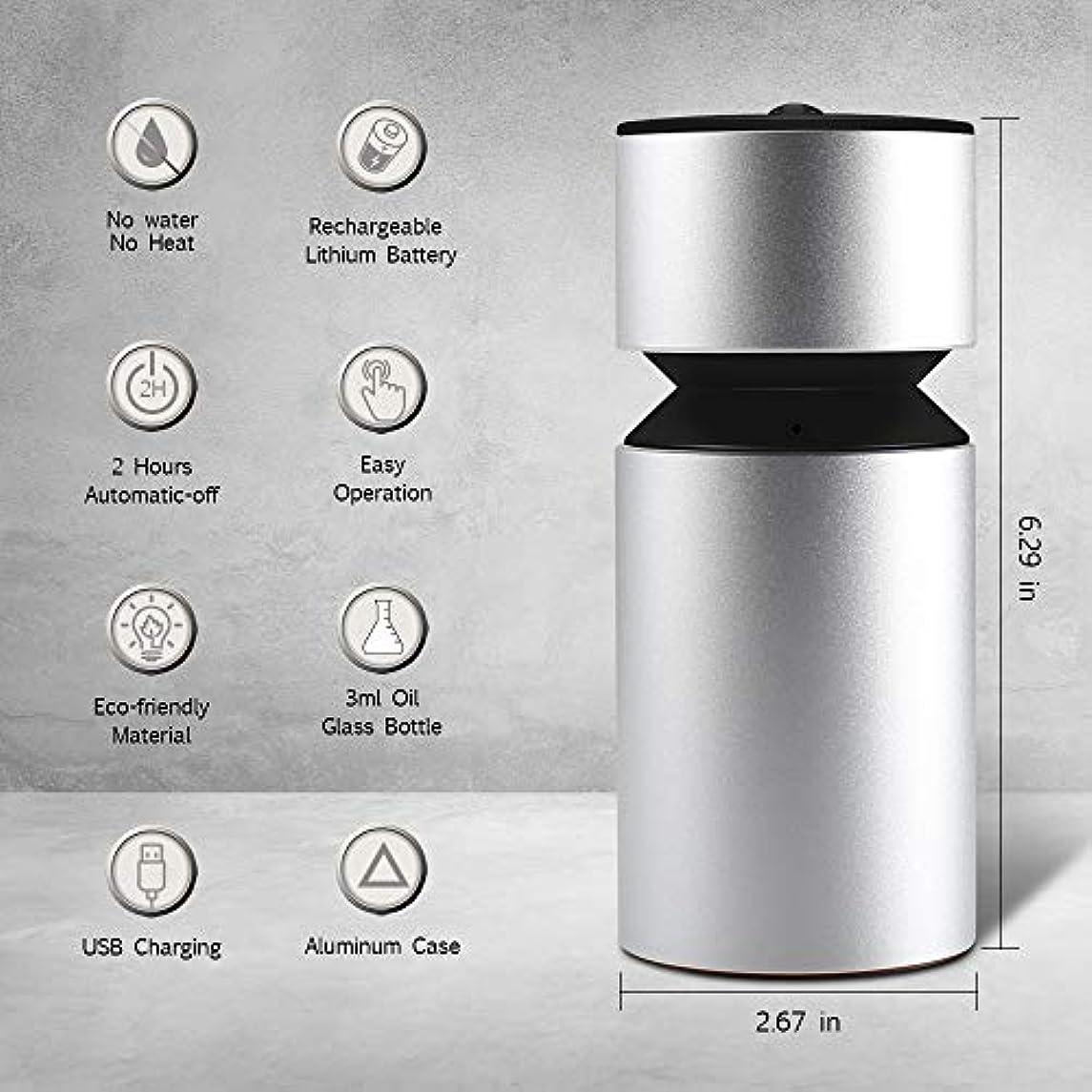 正義施設幾何学超音波アロマディフューザー、噴霧オイルディフューザー、ミニ3.0 USB充電式ネブライザーアロマアロマアロマ用アロマ