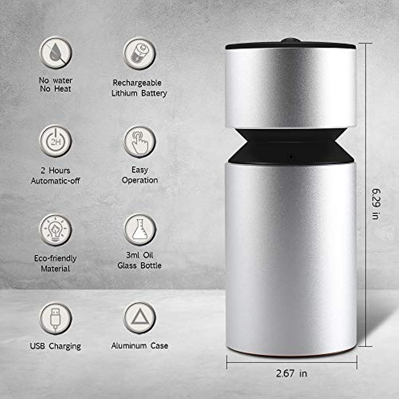 衰える起きて祈り噴霧オイルディフューザー、超音波アロマディフューザー、ミニ3.0 USB充電式ネブライザーアロマアロマアロマ
