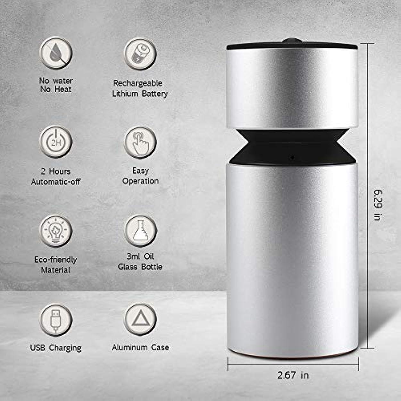 ジムやる助言する噴霧オイルディフューザー、超音波アロマディフューザー、ミニ3.0 USB充電式ネブライザーアロマアロマアロマ