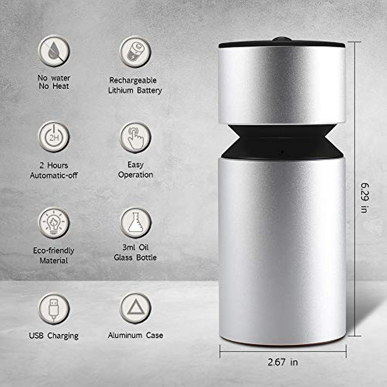 超音波アロマディフューザー、噴霧オイルディフューザー、ミニ3.0 USB充電式ネブライザーアロマアロマアロマ用アロマ