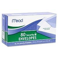 Mead :セキュリティ封筒、NO。6–3/ 4、80/ PK、ホワイトの2パックとして販売–: -–80–/–Total of 160各