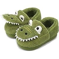 Dream Bridge Toddler Dinosaur House Slippers Warm Home Shoes Fuzzy Household Slippers
