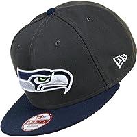 ニューエラ (New Era) 9フィフティ スナップバック キャップ - NFL シアトル?シーホークス (Seattle Seahawks) 黒鉛