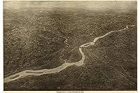 マップのフィラデルフィア、ペンシルベニア州1926;アンティークBirdseyeマップ 24X36 inches HPR_1487_24X36