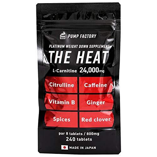 燃焼系 サプリ 強力 ビタミンB2 カルニチン 強カフェイン ダイエットサプリ シトルリン THE HEAT