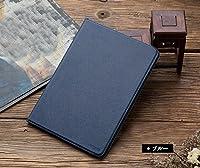 apple iPad pro 10.5 インチ ケース 手帳型 レザー 手帳タイプ アイパッドプロ スタンド機能 衝撃吸収 手帳型カバー プロテクター ブックカバー おすすめ おしゃれ タブレットPC ケース-1 (ブルー)