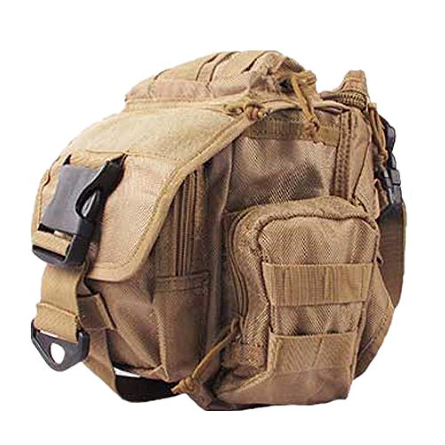 後者マイコンゲインセイ釣り用タックルバッグ 弾性通気ポケット多機能アウトドアスポーツバッグ 耐水 多機能 大容量 防水 (Color : Khaki, Size : S)