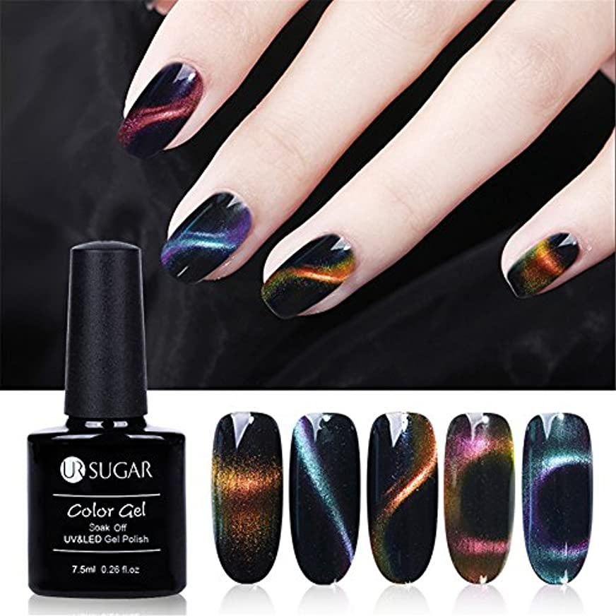 実用的欠かせない付属品UR SUGAR キャッツアイジェル カメレオン ジェル カラー マグネットで模様を作る 3色セット ダブルエンドルマグネット付き UV/LED対応 ジェルネイル用品 [並行輸入品]