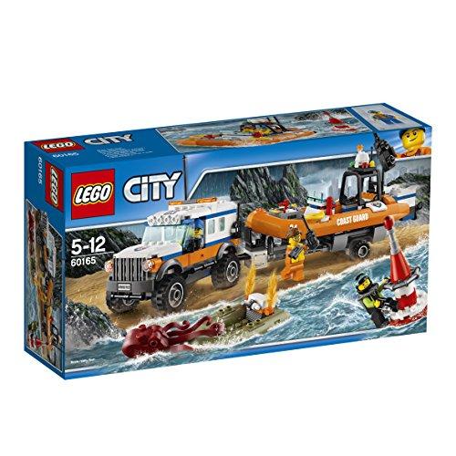 レゴ(LEGO)シティ 海上レスキューボートと4WDキャリアー 60165