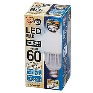 アイリスオーヤマ LED電球 口金直径26mm 60W形相当 昼白色 広配光タイプ 密閉形器具対応 LDA7N-G-6T1
