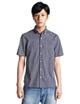 Short Sleeve Graph Check Buttondown Shirt 3216-299-0310: Navy