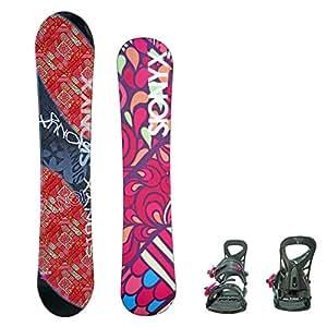 SIONYX レディース スノーボード2点セット オレンジ144