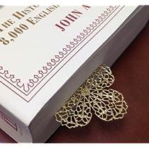 オシャレ!四つ葉のクローバー風ブックマーク・しおり ステンレス金属製 stainless steel bookmark-Four-leaf clover