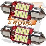 エルカ(Eruka) T10×31 こんなにコンパクト!!なのにこの明るさ!! 諦めてた狭いランプにも明るく美しいLED光を!! 新世代4014型LEDを贅沢に10連マウント!! 取付簡単な極性フリー!! 2個入 ホワイト 国内検査 TS-084-2S