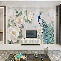 Xueshao カスタム現代のミニマリスト手描きの油絵花ヨーロッパのテレビの背景の壁紙装飾的な壁画-280X200Cm