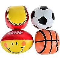 ソフト安全サッカーラグビーバスケットボールソフトボール赤ちゃんおもちゃBalls – 4個パック