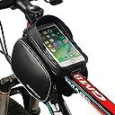 自転車 フレームバッグ MOREZONE 5.5インチ 自転車 スマホ ホルダー サドルバッグ 収納アクセサリー ロードバイク携帯ホルダー (ブラック)