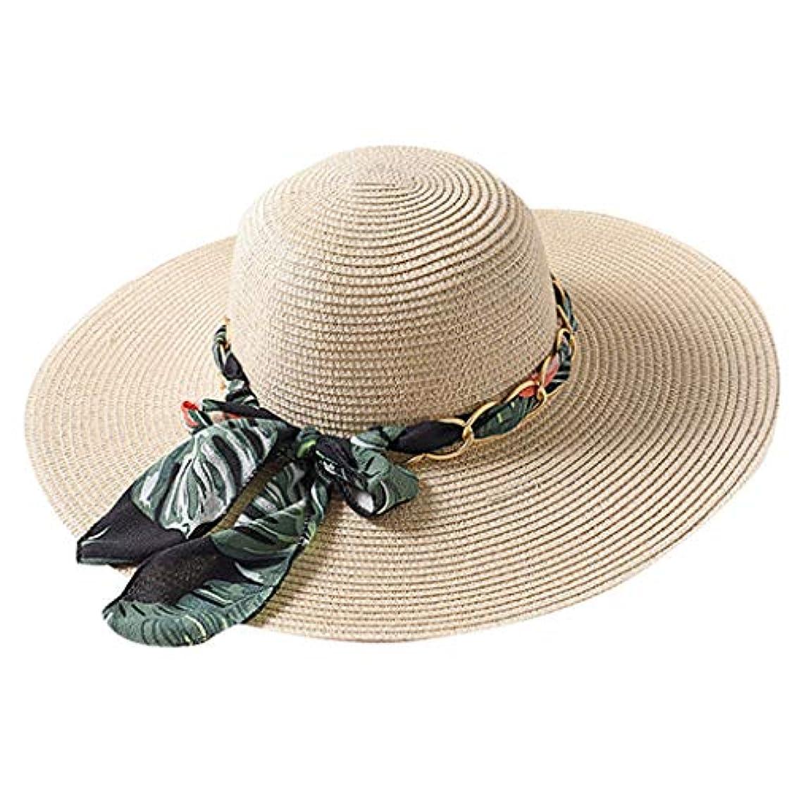 受信慢性的シビックファッション小物 夏 帽子 レディース UVカット 帽子 ハット レディース 紫外線対策 日焼け防止 取り外すあご紐 つば広 おしゃれ 可愛い 夏季 折りたたみ サイズ調節可 旅行 女優帽 小顔効果抜群 ROSE ROMAN