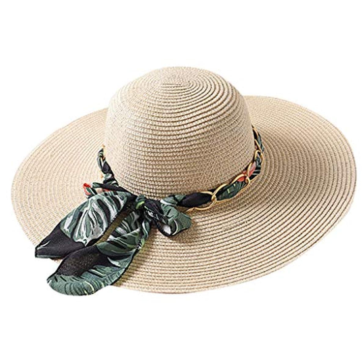 環境アニメーションバーベキューファッション小物 夏 帽子 レディース UVカット 帽子 ハット レディース 紫外線対策 日焼け防止 取り外すあご紐 つば広 おしゃれ 可愛い 夏季 折りたたみ サイズ調節可 旅行 女優帽 小顔効果抜群 ROSE ROMAN