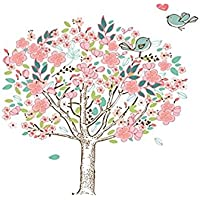 樱のホーム クリエイティブな愛 花の壁ステッカー 装飾部屋 おしゃれ 壁紙シール 壁飾り 装飾 (ピンク)