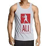 lepni.me 男性用ベスト 「ボクシング - 戦いのスタイルで」訓練のために、スポーツ、運動、ランニング、フィットネス服 (XXXL ホワイト 多色)