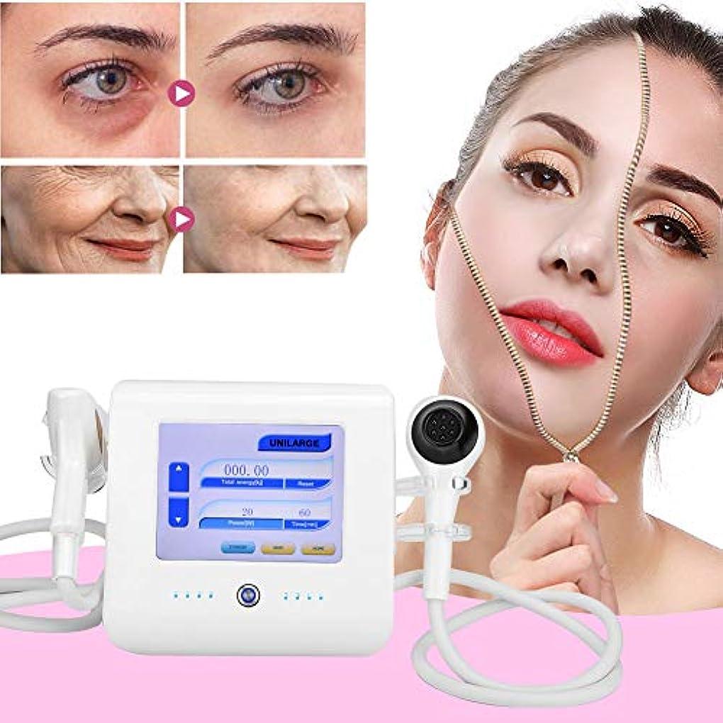 遠え重なる悲劇的なRFの無線周波数の顔の皮のきつく締まる機械、専門の皮の若返りの熱い持ち上がる療法の反老化のスキンケアのしわは美機械装置を取除きます(US)