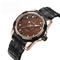 BINZI 腕時計 シンプル 新しい古典定義 アナログウォッチ 日常生活防水 NV-9079(ブラウン)メンズ