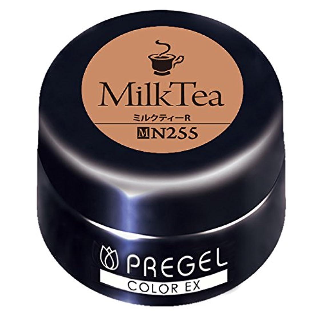 裁判官魅惑的な姿勢PRE GEL カラージェル カラーEX ミルクティー R255 3g UV/LED対応タイオウ