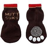 犬用靴下 MUTTSOKS (マットソックス) M 4個入り [並行輸入品]