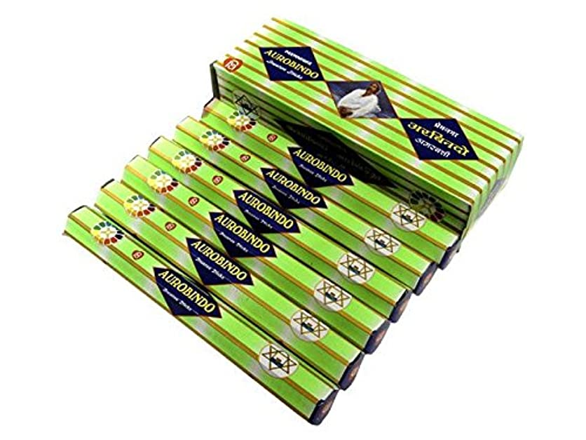 マインドフル手ナプキンANANTH(アナンス) オーロビンド香 スティック AUROBINDO 6箱セット