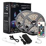 LEDテープライト 防水 高輝度 高品質 RGB LEDテープ SMD2835 10M 600連 選択 切断可能ledストリップライト 17キーリモコン 12V5A電源
