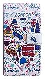 【London】ロンドン イラスト iPhone7/ iPhone8ケース カバー ウォレット 手帳型 [並行輸入品]