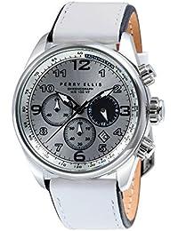 [ペリー・エリス]Perry Ellis 腕時計 GT クォーツ 44 mmケース 本革バンド 01007-01 メンズ 【正規輸入品】