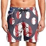 メンズサーフィンボードショーツアーカンソーゲイフラグ水泳パンツで巾着、2 XL
