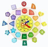 クロックス メンズ 【seriction】 キッズ 木のおもちゃ 時計の勉強 ウッドクロック 楽しく 学び 勉強 知育玩具 積み木 パズル はめ込み とけい 時間 木製 子供用 幼児 (パート�)