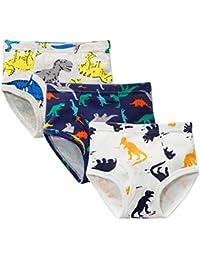 Stongo キッズ ブリーフ 男の子パンツ 100% 綿 恐竜柄 男児 男の子 下着 ボクサーパンツ ボクサーショー